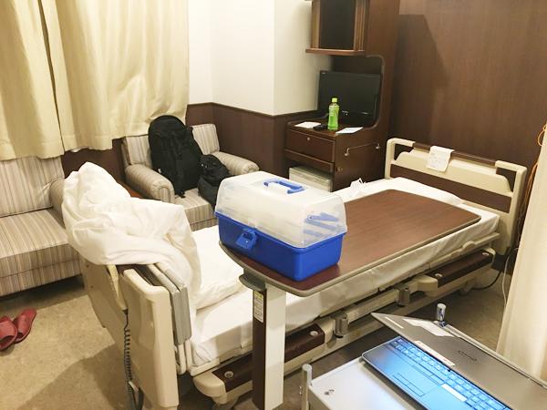 ビジネスホテルみたいな病室。検査入院睡眠時無呼吸症候群